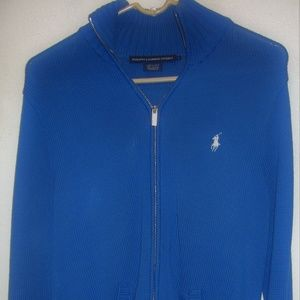 RALPH LAUREN SPORT FULL ZIP CARDIGAN SWEATER